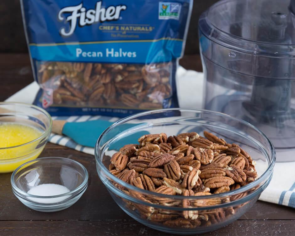 Fisher Nuts   No-Bake Pecan Nut Crust