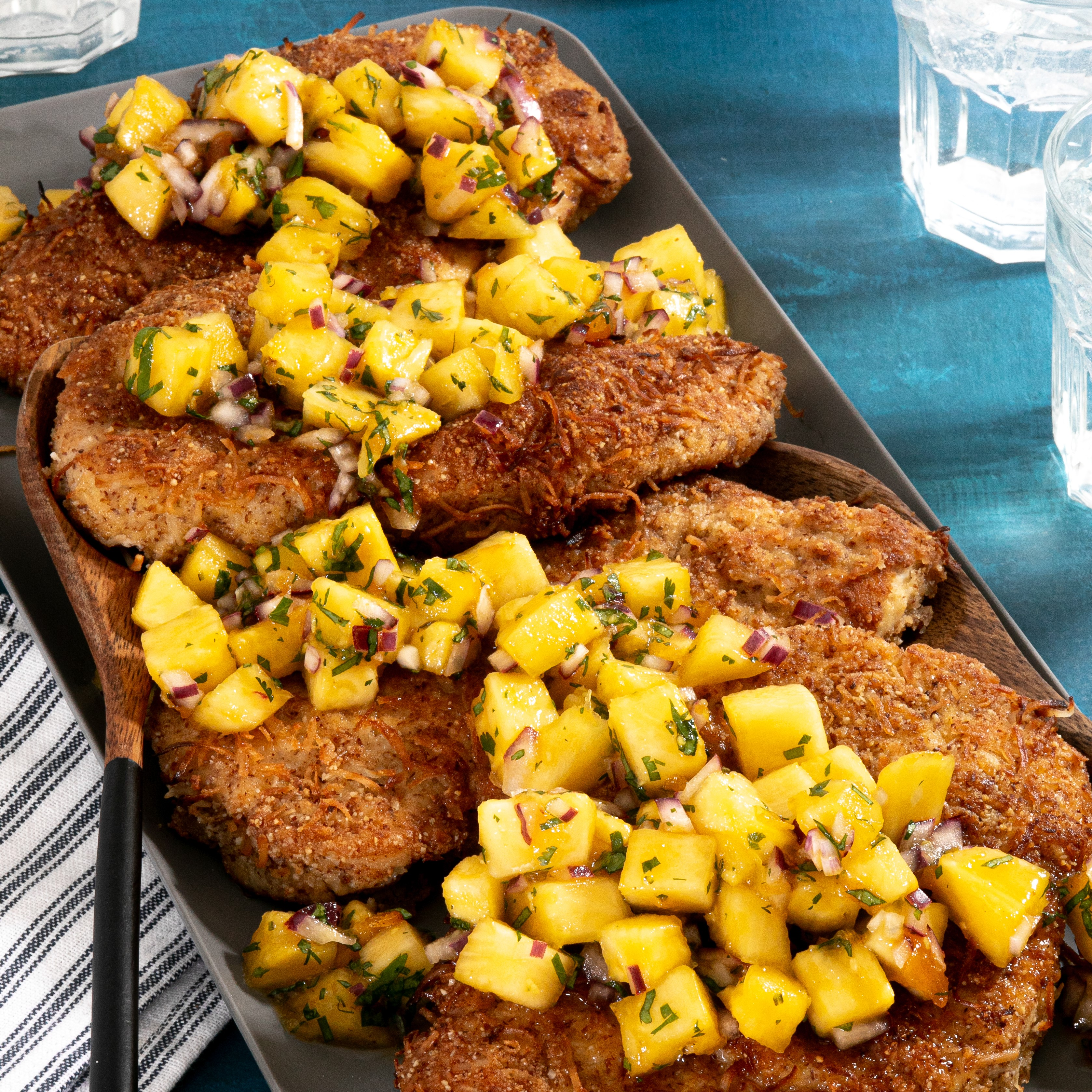 Coconut Chicken with Pineapple-Ginger Salsa