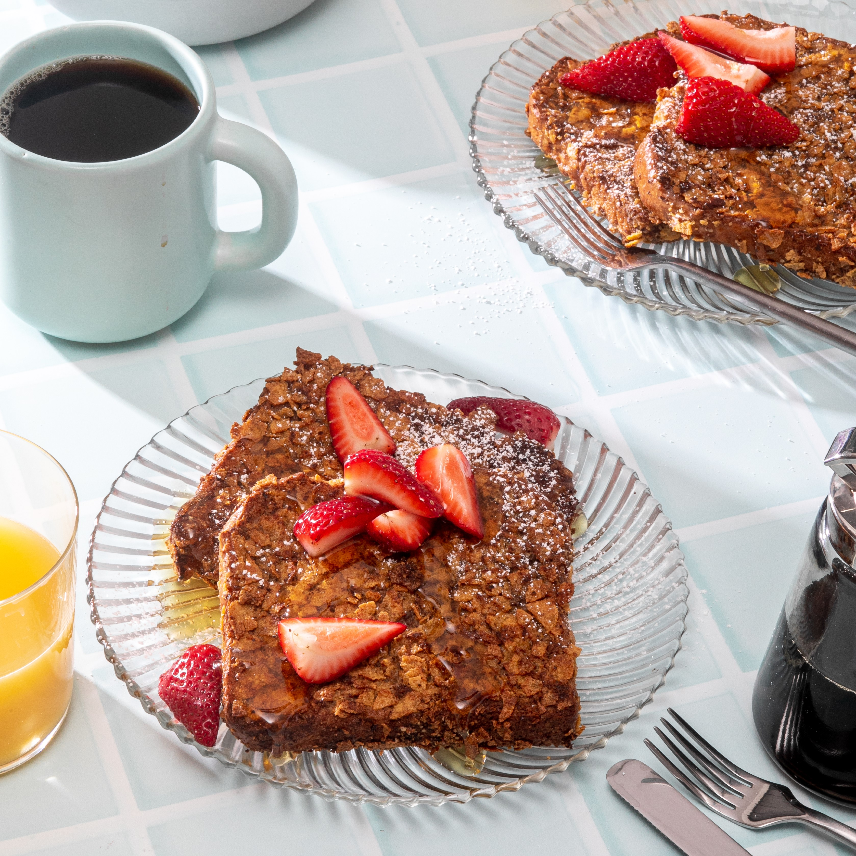 Cereal-Pecan Crusted Brioche French Toast