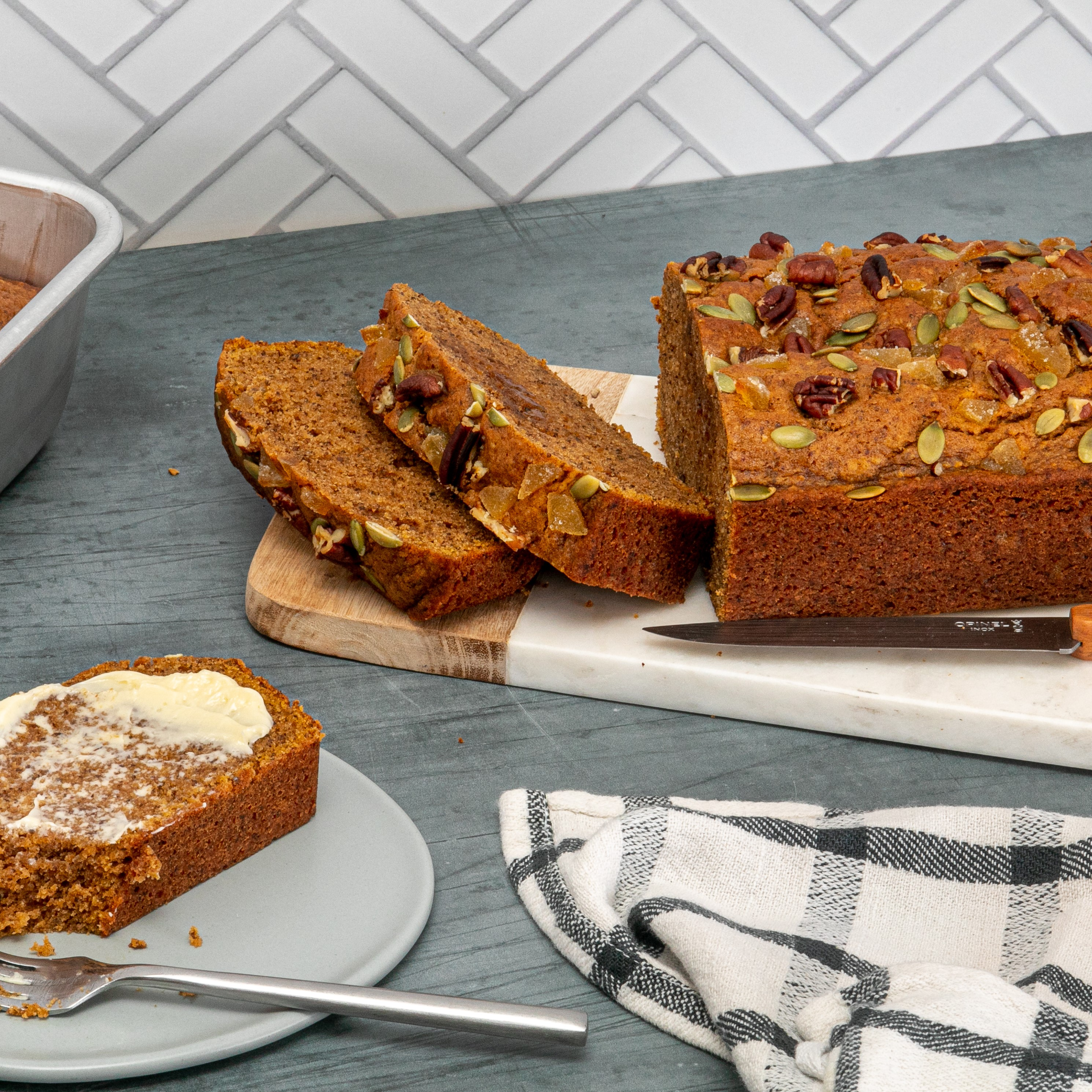 Pumpkin Spice Pecan Bread