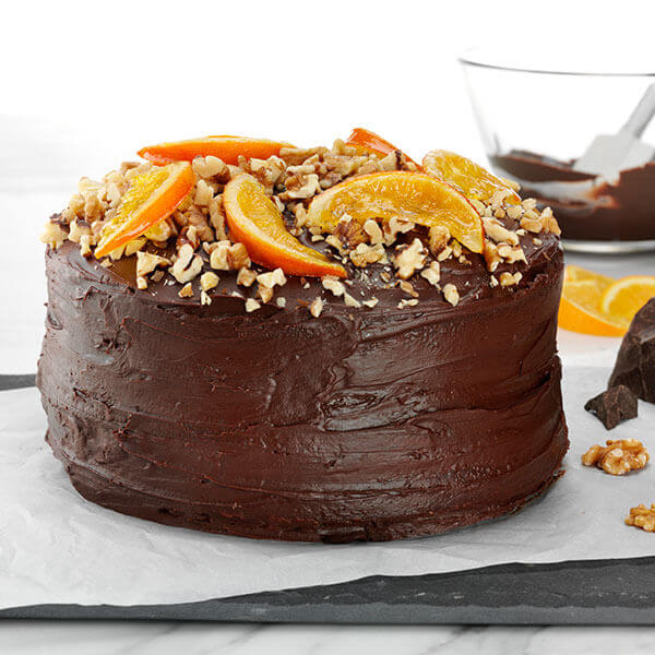 Chocolate Walnut Layer Cake