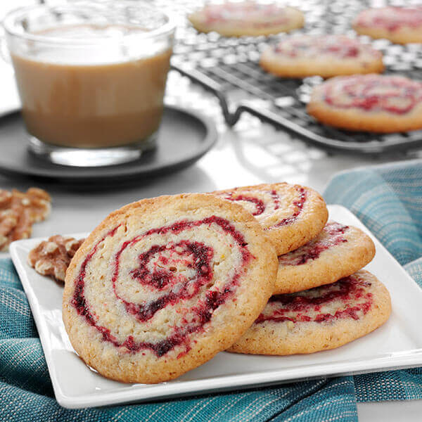 Walnut Cranberry Pinwheel Cookies