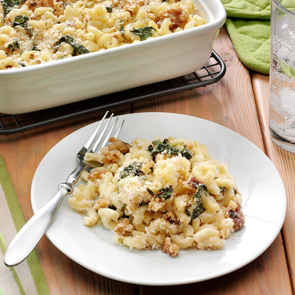 Walnut And Fontina Macaroni And Cheese