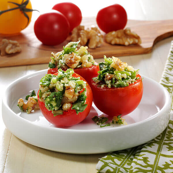 Walnut Stuffed Cherry Tomato Halves