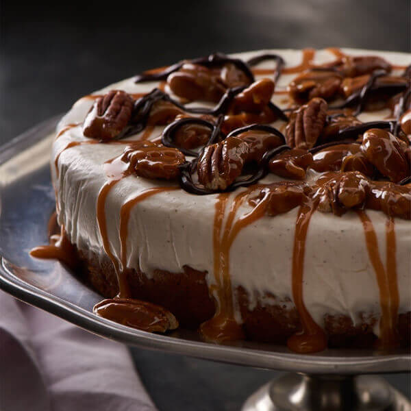 Pecan Turtle Ice Cream Cake