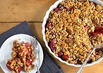 Bourbon Plum & Walnut Crumble