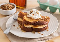 Stuffed French Toast with Pumpkin Pie Filling