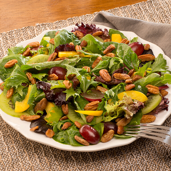 Spring Greens and Honey Pecan Salad