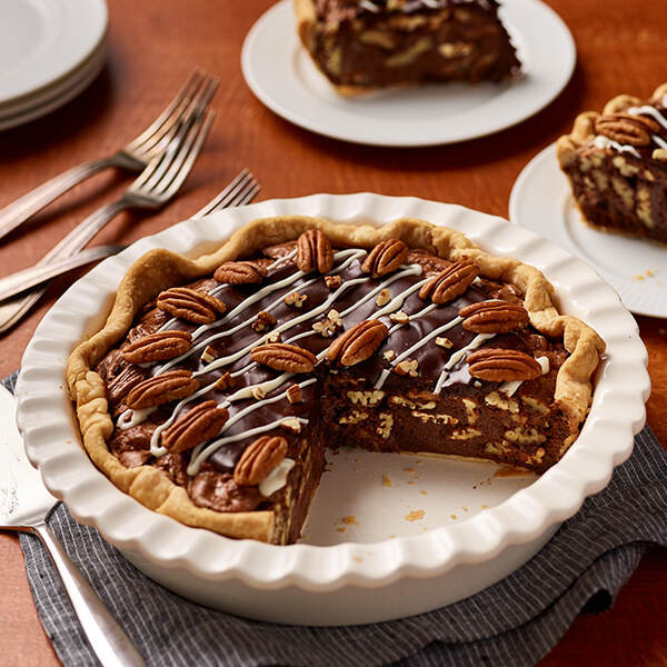 Pecan Brownie Pie