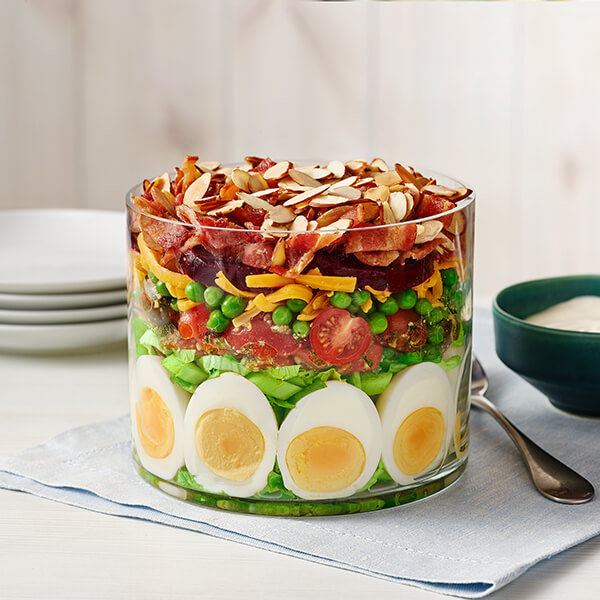 7-Layer Salad with Almonds