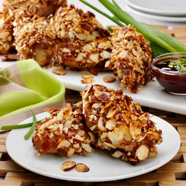 Almond Crusted Chicken Wings