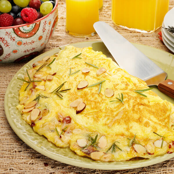Almond, Cheese and Rosemary Omelet