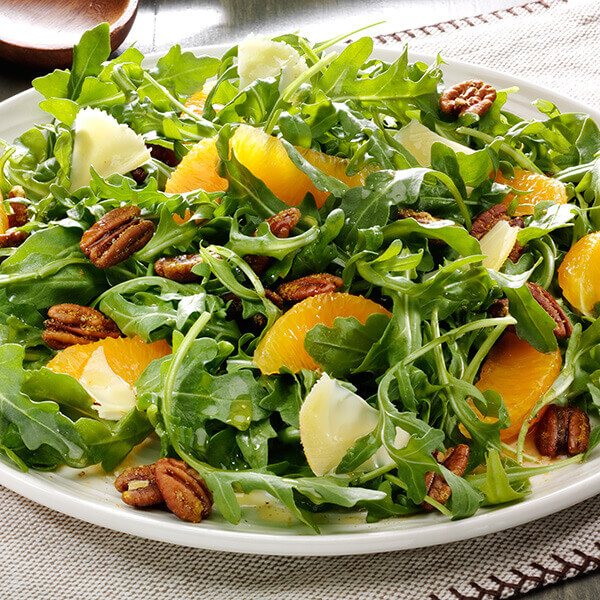 Arugula and Curried Pecan Salad