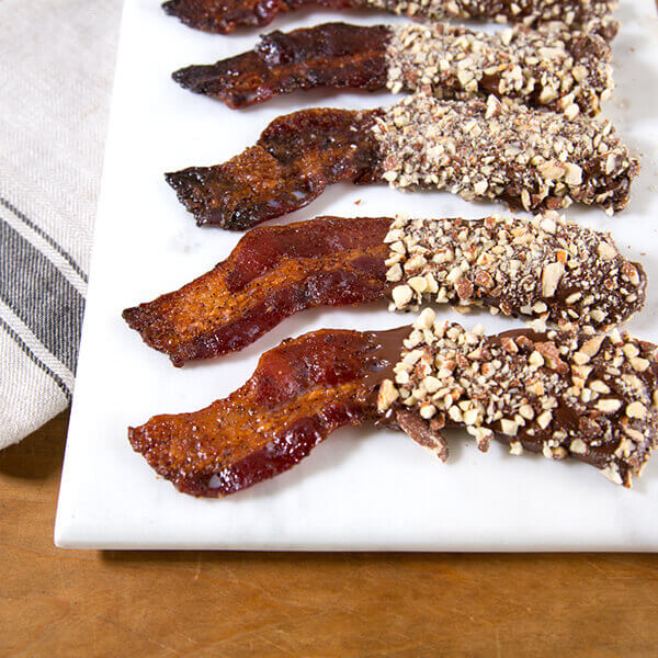 Candied Chocolate Almond Bacon