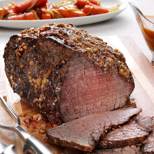 Beef Roast with Walnut, Thyme and Sea Salt Crust