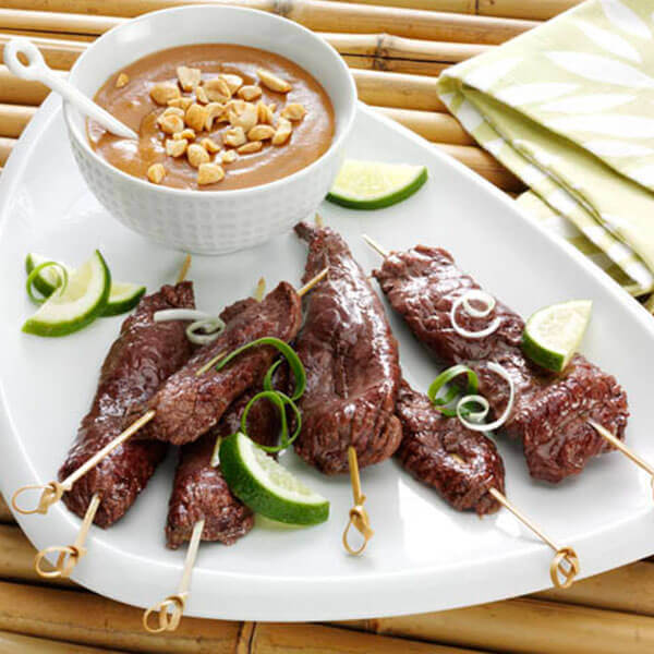 Fisher Nuts | Recipes | Beef Satay with Peanut Sauce