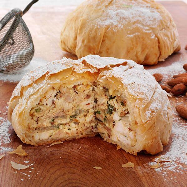 Chicken and Almond Basteeya