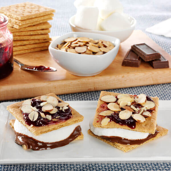 Chocolate Raspberry S'mores