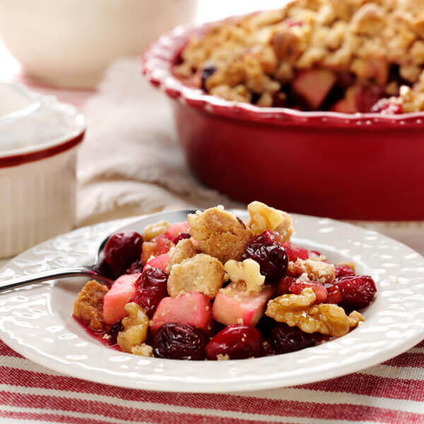 Walnut & Cranberry Apple Crumble