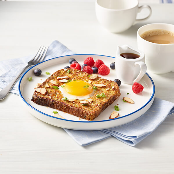 Egg-in-the-Hole Almond French Toast