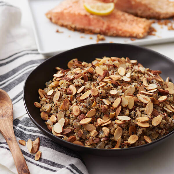 Quinoa Almond Pilaf