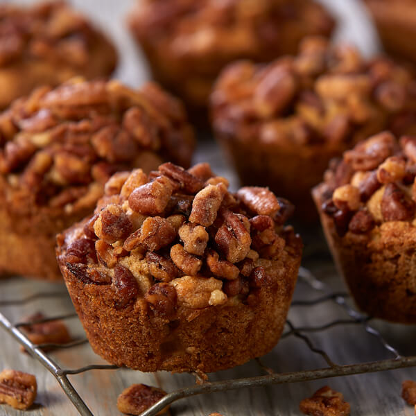 Honey Roasted Pecan and Apple Muffins