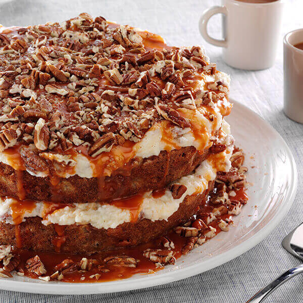 Naked Apple Cake with Pecan Frosting