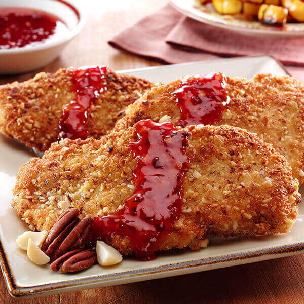 Nutty Panko Chicken & Sweet, Spicy Sauce