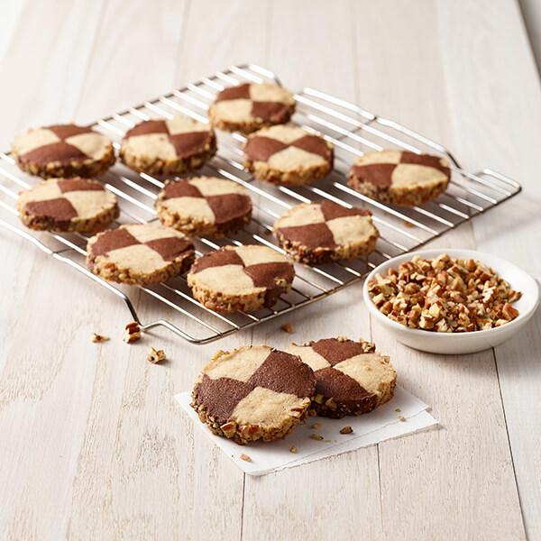 Pecan Checkerboard Cookies