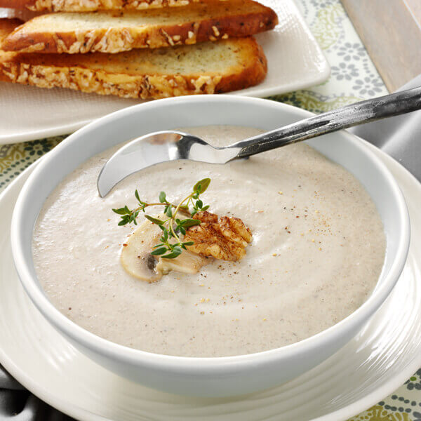 Quick and Nutty Cream of Mushroom Soup