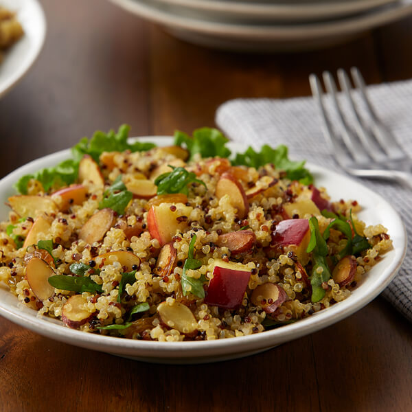 Curried Quinoa Apple Salad with Toasted Almonds