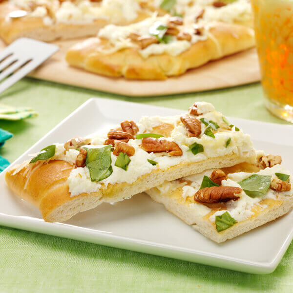 Ricotta Cheese and Basil Flatbread