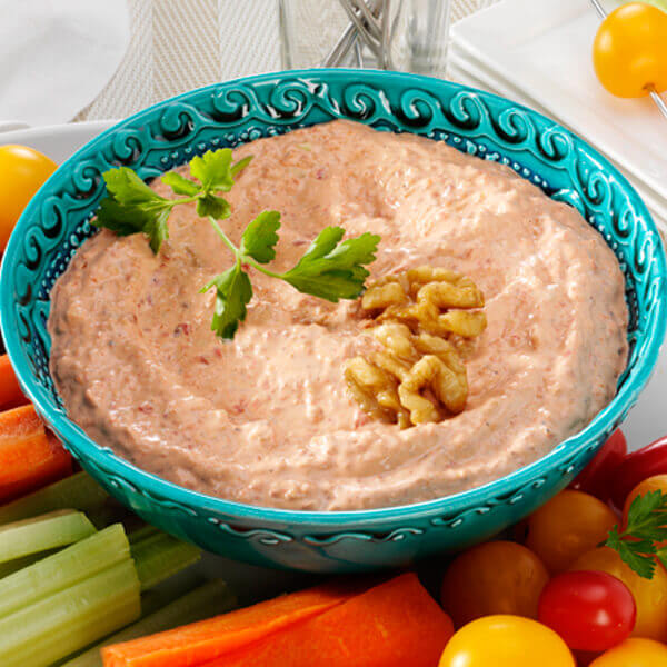Roasted Red Pepper Walnut Dip