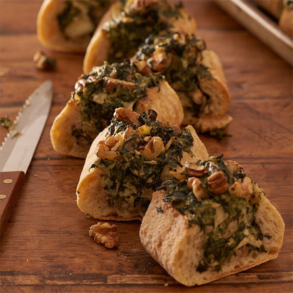 Spinach, Artichoke and Pecan-Walnut Bread