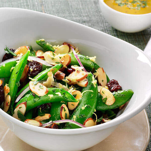 Sugar Snap Peas, Cherries & Almond Salad