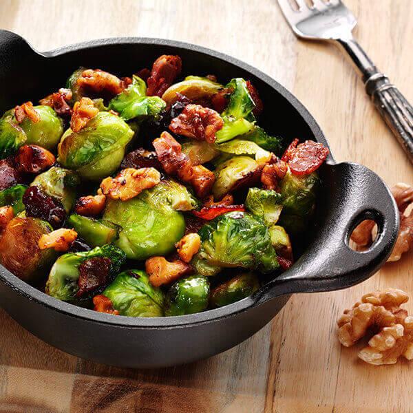 Sweet Walnut Brussels Sprouts