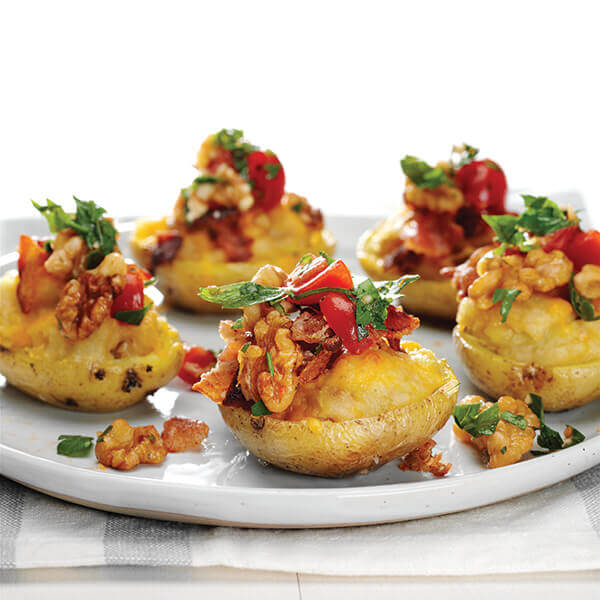 Walnut, Bacon and Cheddar Potato Bites