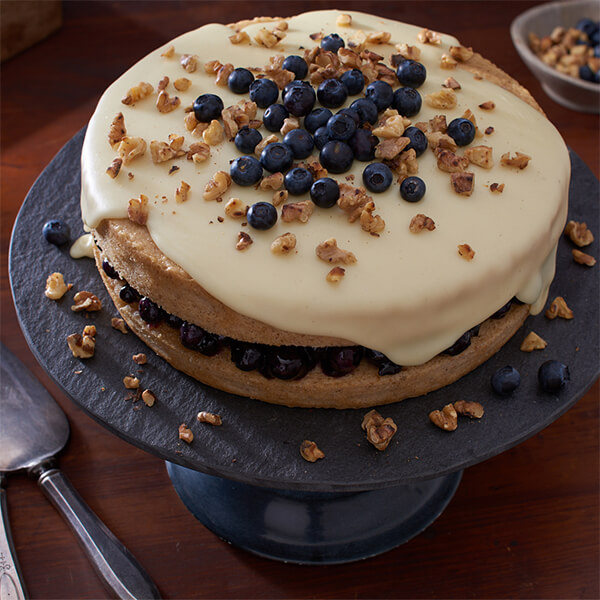White Chocolate Walnut Layer Cake