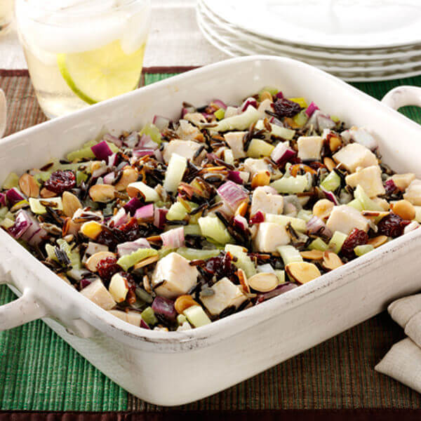 Wild Rice and Turkey with Toasted Almonds