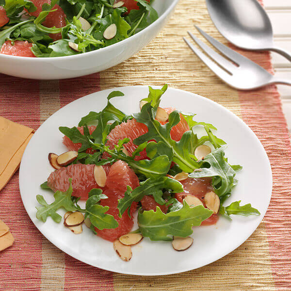Almond, Arugula and Grapefruit Salad