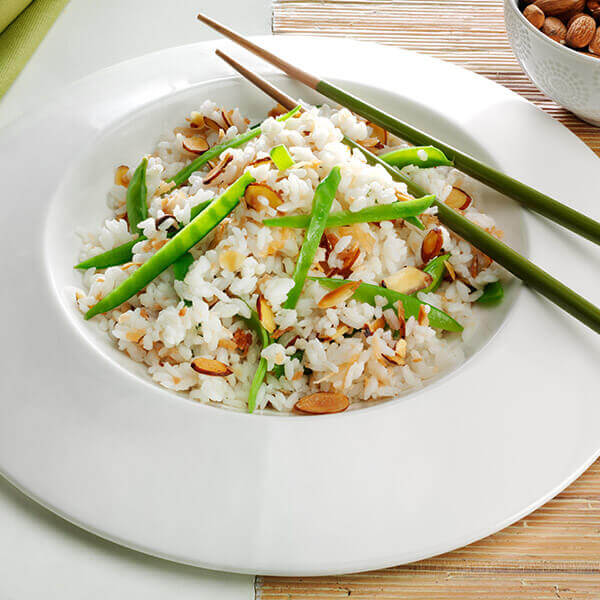 Coconut Almond Rice