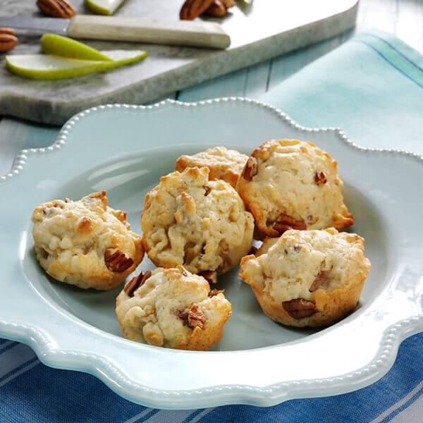 Pear Pecan Mini Muffins