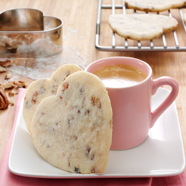 Pecan Shortbread Hearts