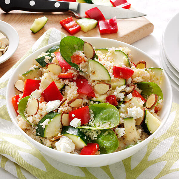 Spinach and Almond Couscous Salad