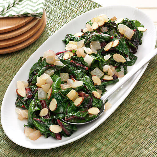 Swiss Chard with Almonds