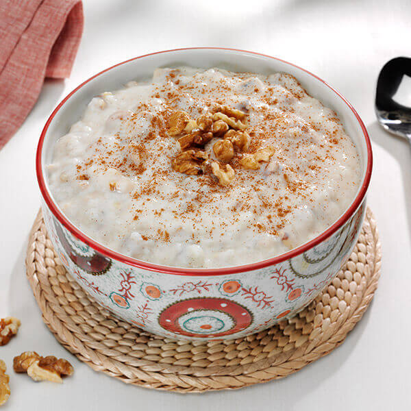 Cinnamon Walnut Rice Pudding
