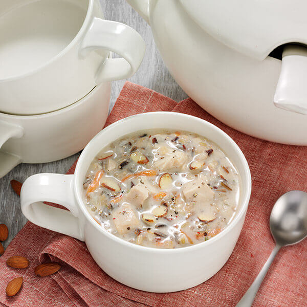 Wild Rice Almond Soup