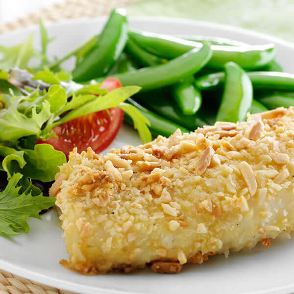 Almond Encrusted Cod Fillets