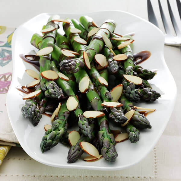 Asparagus with Balsamic Vinaigrette & Almonds