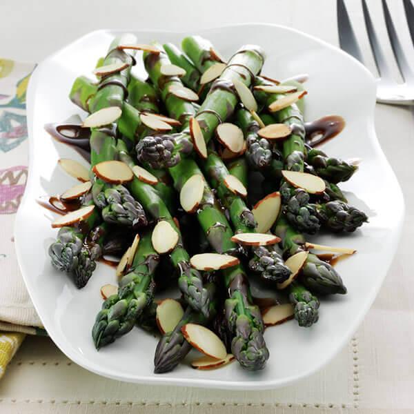 Asparagus with Balsamic Vinaigrette & Almonds